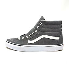 Vans Sk8 Hi Micro Herringbone Black White Gray Men's 11.5 Skate Shoes New Grey
