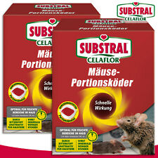 Substral Celaflor 2x 200g Mäuse-portionsköder Alpha P Poison Lutte Contre Maison