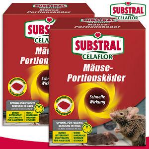 Substral Celaflor 2x 200g Mäuse-portionsköder Alpha P Poison Control House