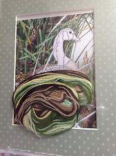 Weekenders Nesting Canada Goose Stitchery Pattern Framed Size Wool Yarn Crewel