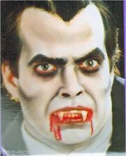 """Theatrical Hair Black 18"""" + adhesive Vampire Beard Moustache Special FX makeup"""