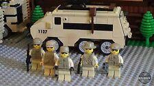 Heavy Armor AV-16 Assault Vehicle Set 5 Army minifigure soldiers Lego parts Set