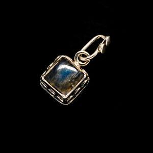 "Labradorite 925 Sterling Silver Pendant 3/4"" Ana Co Jewelry P735556"
