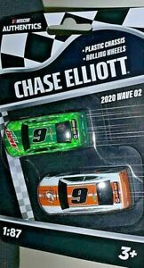 NASCAR AUTHENTICS 2020 1/87 #9 CHASE ELLIOTT MTN DEW/LITTLE CAESARS SET WAVE 2