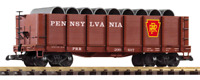 Piko 38724, G Scale Pennsylvania Railroad (PRR) High-Side Gondola with Pipe Load
