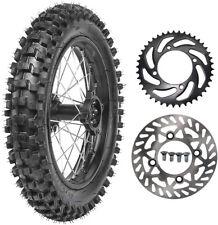 "1.85x14 14"" Rear Wheel 90/100-14 Tire Rim Rotor Dirt Pit Bike Apollo Taotao 125"