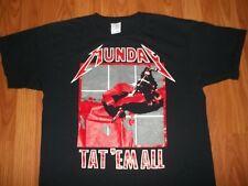 Cool METALLICA Take-off TAT EM ALL TATTOO ink Gun T-Shirt L Kill Em All album