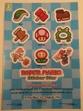 Nintendo Paper Mario Sticker Star 3DS Stickers