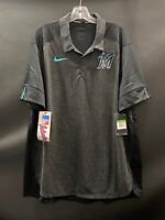 MIAMI MARLINS BASEBALL NIKE AUTHENTIC COLLECTION BRAND NEW DRI FIT POLO SIZE XL