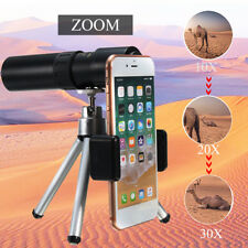 10 20 30X Zoom Optical Phone Camera Lens Telescope Monocular + Tripod For iphone