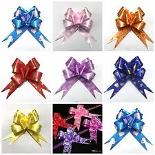 50M PULL BOWS RIBBON ALL MIX  COLOURS  WEDDING CARS GIFT WRAP MOTHERS DAY FLOWER