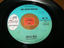 MAX GREGOR ORCHESTRA  - COSTA RICA - PLONKI  / LISTEN - ROCK POPCORN