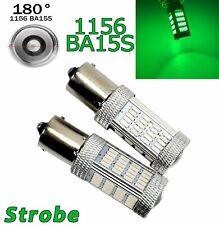 Strobe Green Front Turn Signal 1156 BA15S P21W 7506 3497 92 LED Bulb A1 LAX