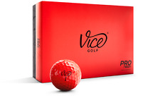 Vice Pro Golf Balls - NEON RED - 1 Dozen Brand New (12 Balls)