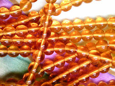 Vtg 300 TOPAZ COLOR ROUND DRUK SPACER 5mm GLASS BEADS JEWELRY I#031912g
