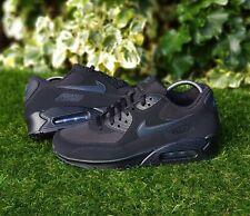 BNWB Genuine Nike ® Air Max 90 Essential Black & Anthracite Trainers UK Size 8