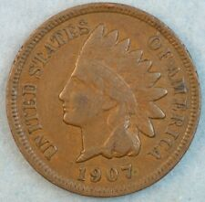 1907 Indian Head Cent Penny Liberty Very Nice Vintage Old Coin Fast S&H 34002