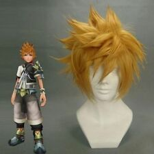 Short Kingdom Hearts Birth by Sleep Ventus Gold Anime Cosplay Wig + Hairnet