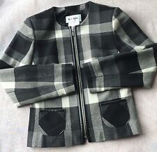 WEILL Quality WOOL Made In POLAND JACKET COAT PLAID ZIPPER FRONT
