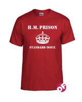 H.M. Prison Standard Issue T-shirt 1977 Clash worn by Janie Jones colours NEW