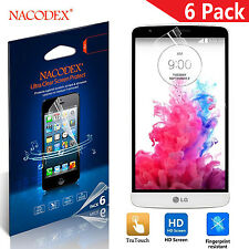 6X Nacodex HD Clear LCD Screen Protector Shield Cover Guard Saver For LG G3