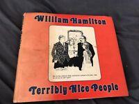 First Edition Book WILLIAM HAMILTON TERRIBLY NICE PEOPLE HCDJ 1975 USA