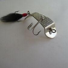 FISHING LURE CREEK CHUB  NO. 1000  COHOKIE  METAL SPOON  NEW  BLACK TAIL