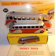 DINKY TOYS ATLAS AUTOCAR CAR ISOBLOC BICOLORE ROUGE GRIS ARGENT 1/72 REF 29E BOX
