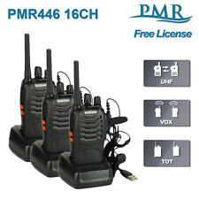 3x Baofeng BF-888S PMR Walkie Talkies FM 2 Way Pre-Programmed Ham Radio Scanner