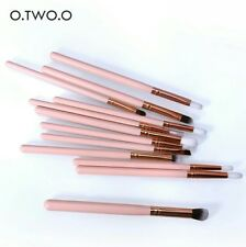 O.TWO.O 12pcs Eye Brushes Set Make up Tool Kit For Eyes Eye Liner Shader natural