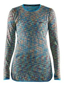 Functional Shirt Sports Baselayer CRAFT Active Comfort, Ladies, Long, Colourful