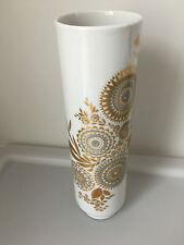 Hutschenreuther Selb Bavaria 9673 / 18 Blumenvase gold weiß Vase 60er 70er