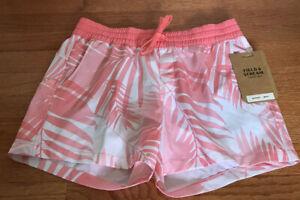 Field & Stream Harbour II Women's Fishing Shorts UPF 50+ palm print shell pink