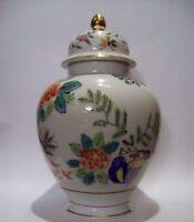 Ginger Jar Urn with Lid, Vintage Porcelain  Gold Trim, Made in Japan   Excellent
