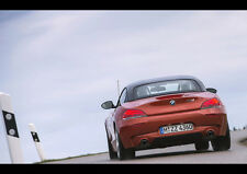 "BMW Z4 ROADSTER BACK VIEW NEW A1 CANVAS PRINT POSTER FRAMED 33.1""x23.4"""