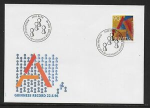 1996 SWITZERLAND GUINNESS WORLD RECORD FDC SG1327