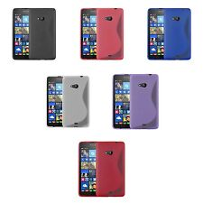 FOR MICROSOFT LUMIA N535 S-LINE SILICONE GEL AND SCREEN PROTECTOR CASE COVER