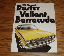 Original 1972 Plymouth Duster Valiant Barracuda Sales Brochure 72