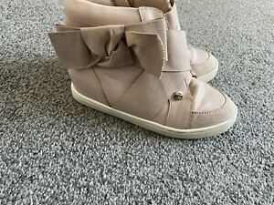 Girls River Island Boots Size 12 Pink