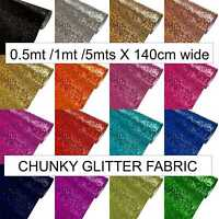 Chunky Glitter Fabric craft bows sparkly wallpaper sold by meter 137cm roll