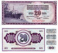 YUGOSLAVIA 20 Dinara Banknote World Paper Money UNC Currency Pick p88a 1978 Bill