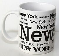 New York New York Cup Mug City Merchandise White with Black EUC