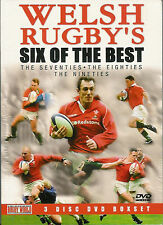 WELSH RUGBY'S SIX OF THE BEST - 70's, 80's AND 90's 3 DISKS (DVD) NEW AND SEALED
