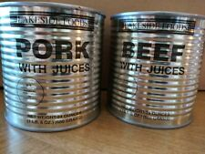 Twin Pack of Lakeside Foods Pork w/Juices & Beef w/Juices 24 Oz. Each Can!