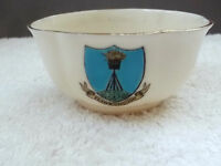 VINTAGE MODEL OF A SMALL, SHAPED  SUGAR BOWL CRESTED FLAMBOROUGH BY W H GOSS