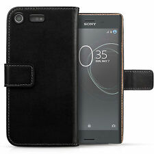Genuine Leather Wallet Case For The Sony Xperia XZ Premium Best Flip Folio Cover