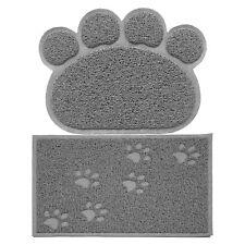 Non-slip Pet Paw Puppy Dog Placemat Pet Cat Dish Bowl Feeding Food Water Mat NEW