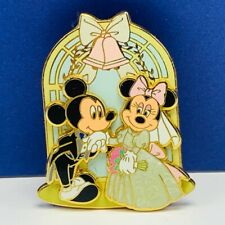 Walt Disney Trading pin button pinback wedding Mickey Minnie Mouse 2007 bride