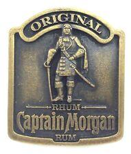 Vintage Belt Buckle Captain Morgan Rum Rhum Original Brass Plated Metal J606