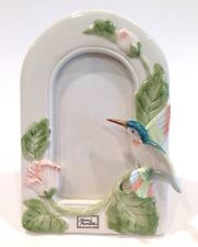 """Fitz and Floyd Vintage Hummingbird Photo Frame 5"""" x 3"""" Repaired"""
